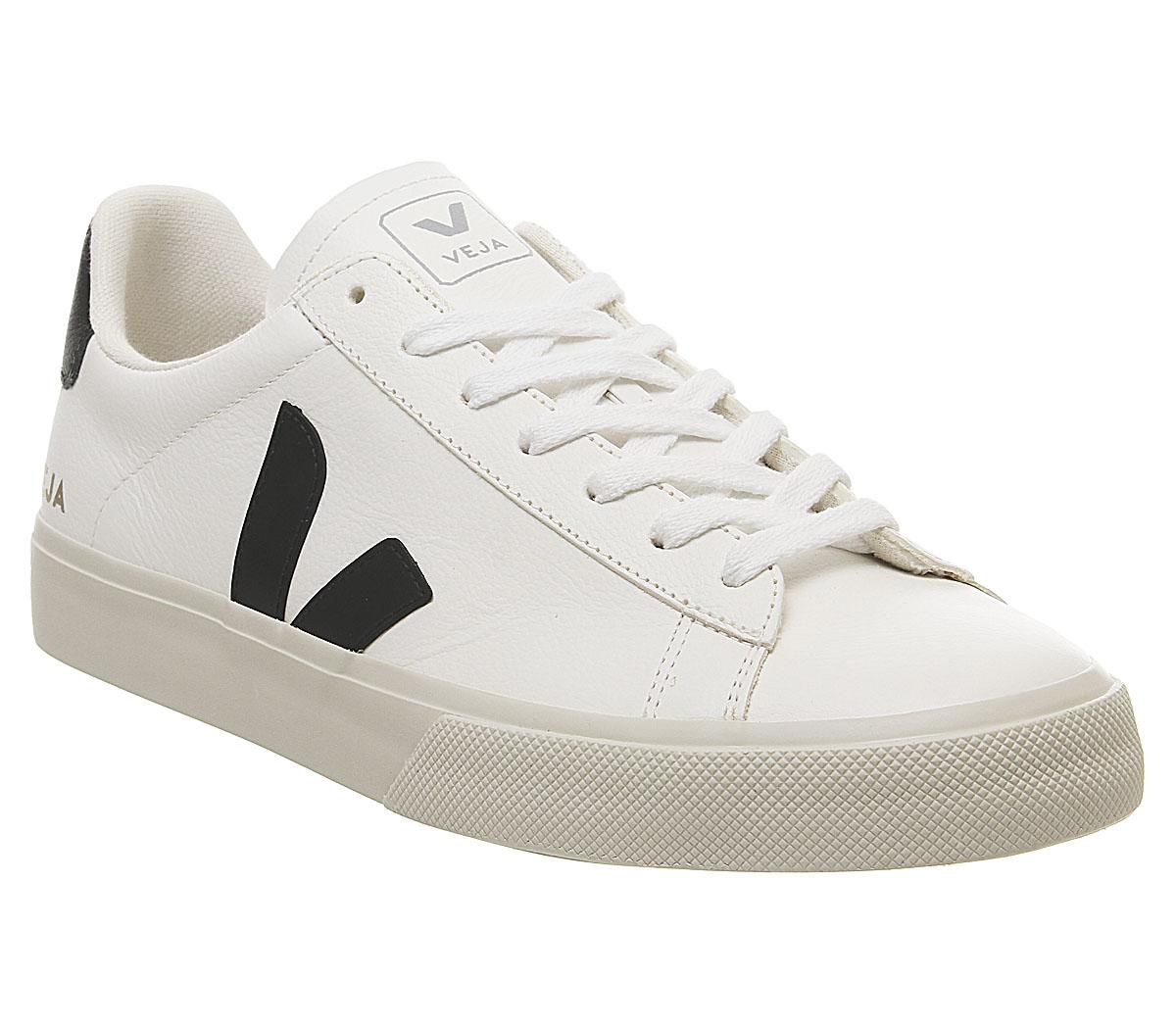 Veja Campo White Black Leather - Unisex