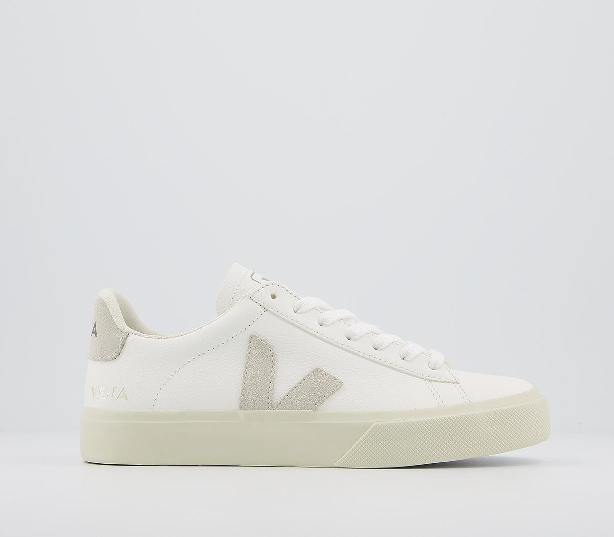 abogado Microbio sencillo  Veja Campo Trainers White Natural Leather F - Hers trainers