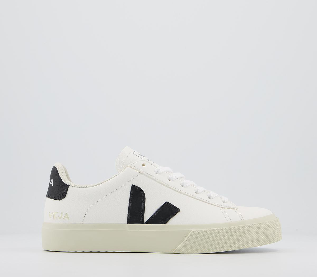 recinto Manifiesto sexual  Veja Campo Trainers White Black Leather F - Hers trainers