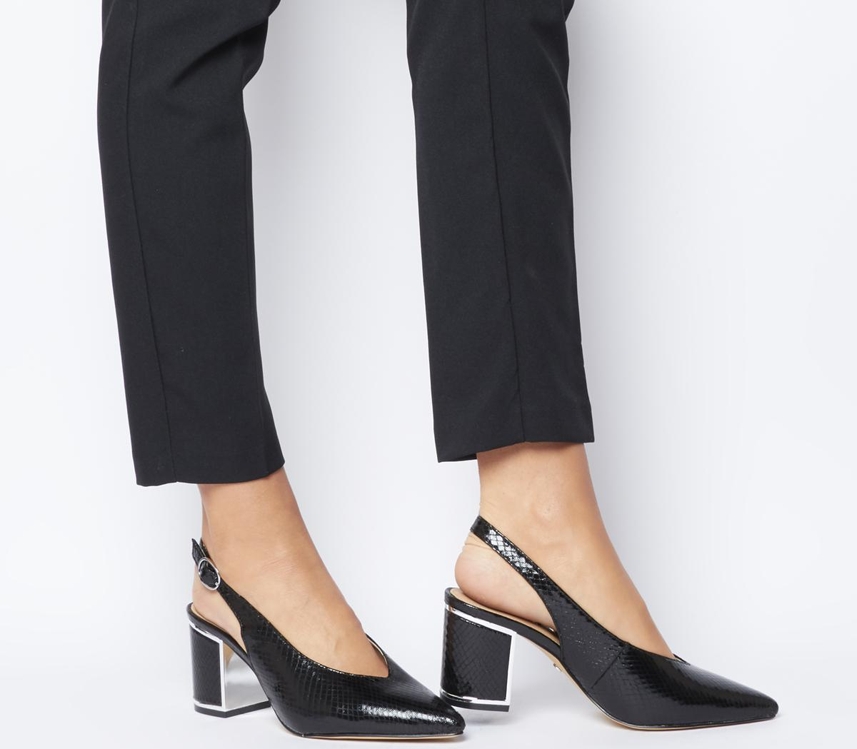 animal print slingback heels