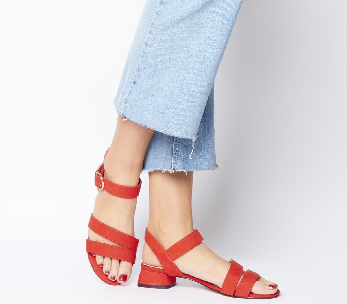 Maria Sandal With Flared Heels