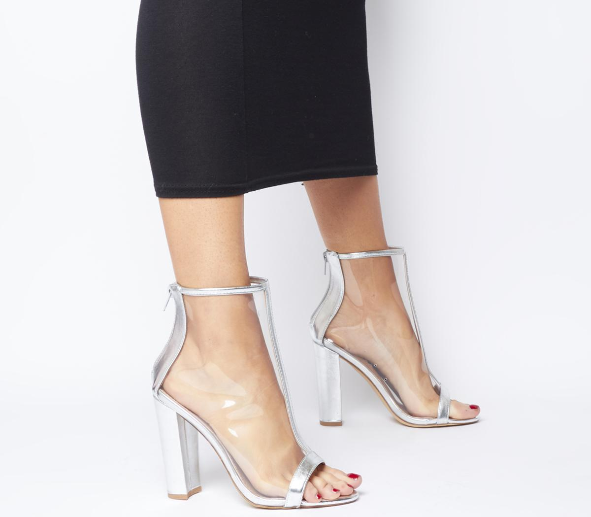Accept Peep Toe Block Heels