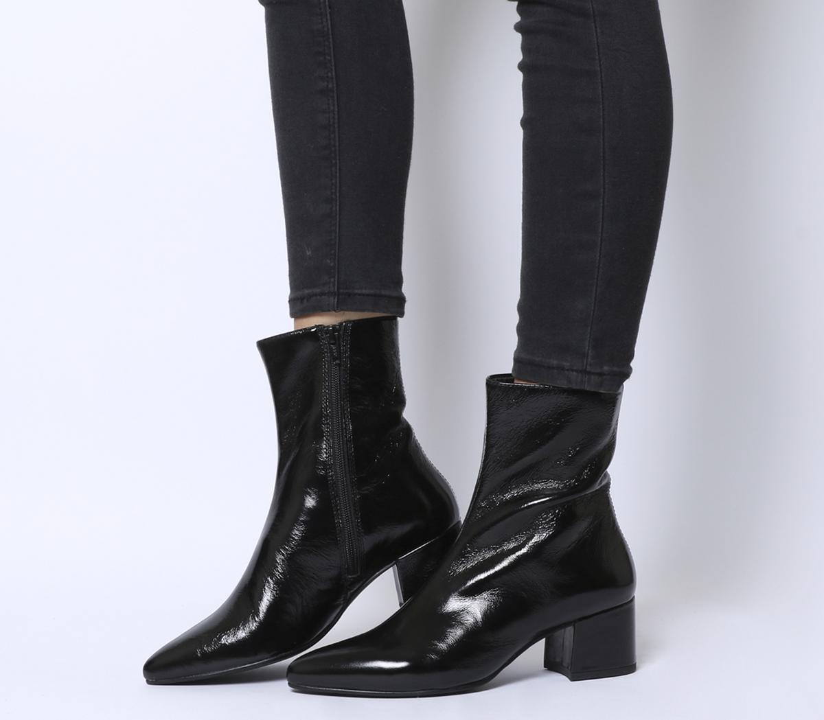 Vagabond Mya Mid Ankle Boots Black