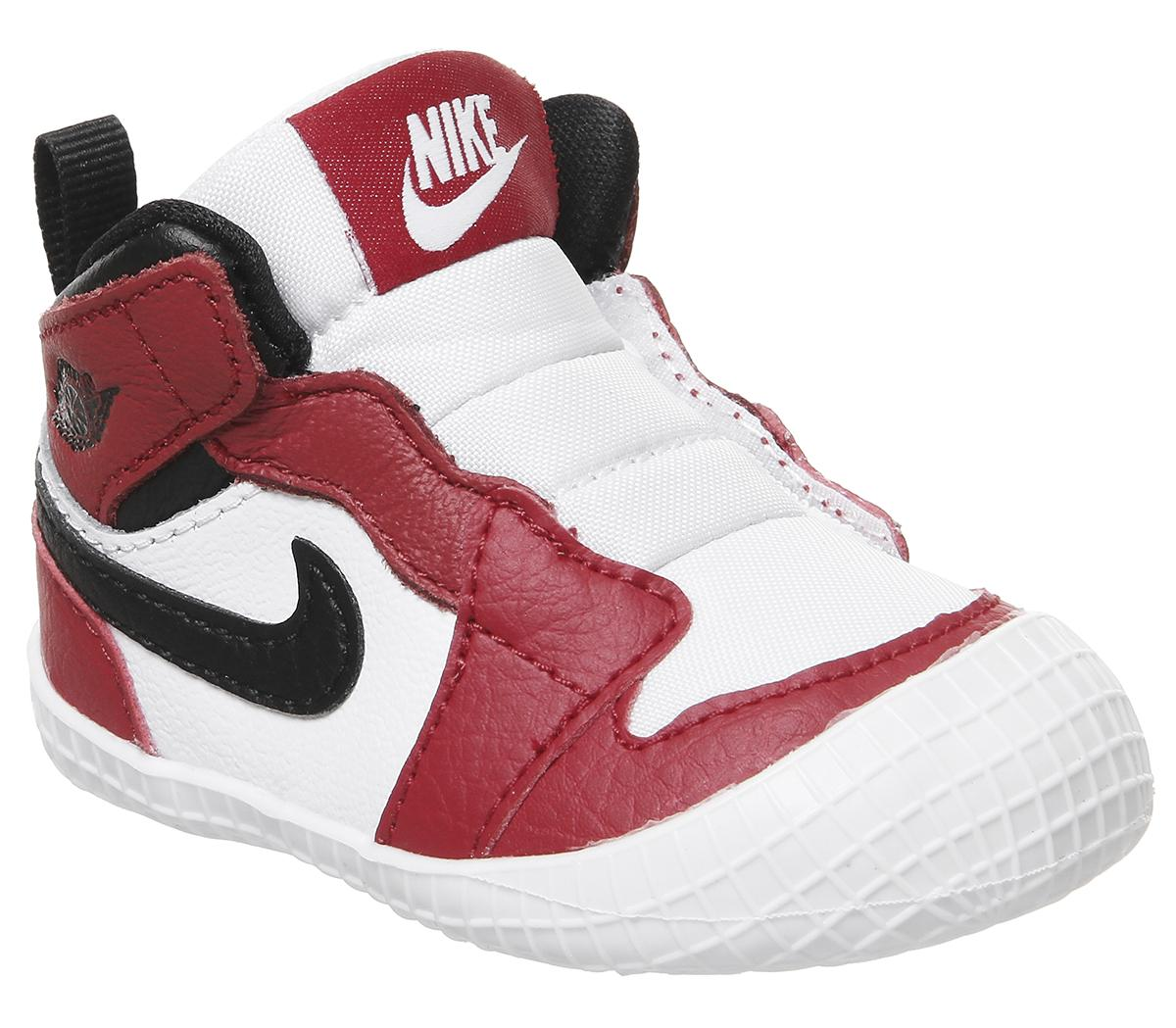 Jordan Jordan 1 Crib Bootie White Black