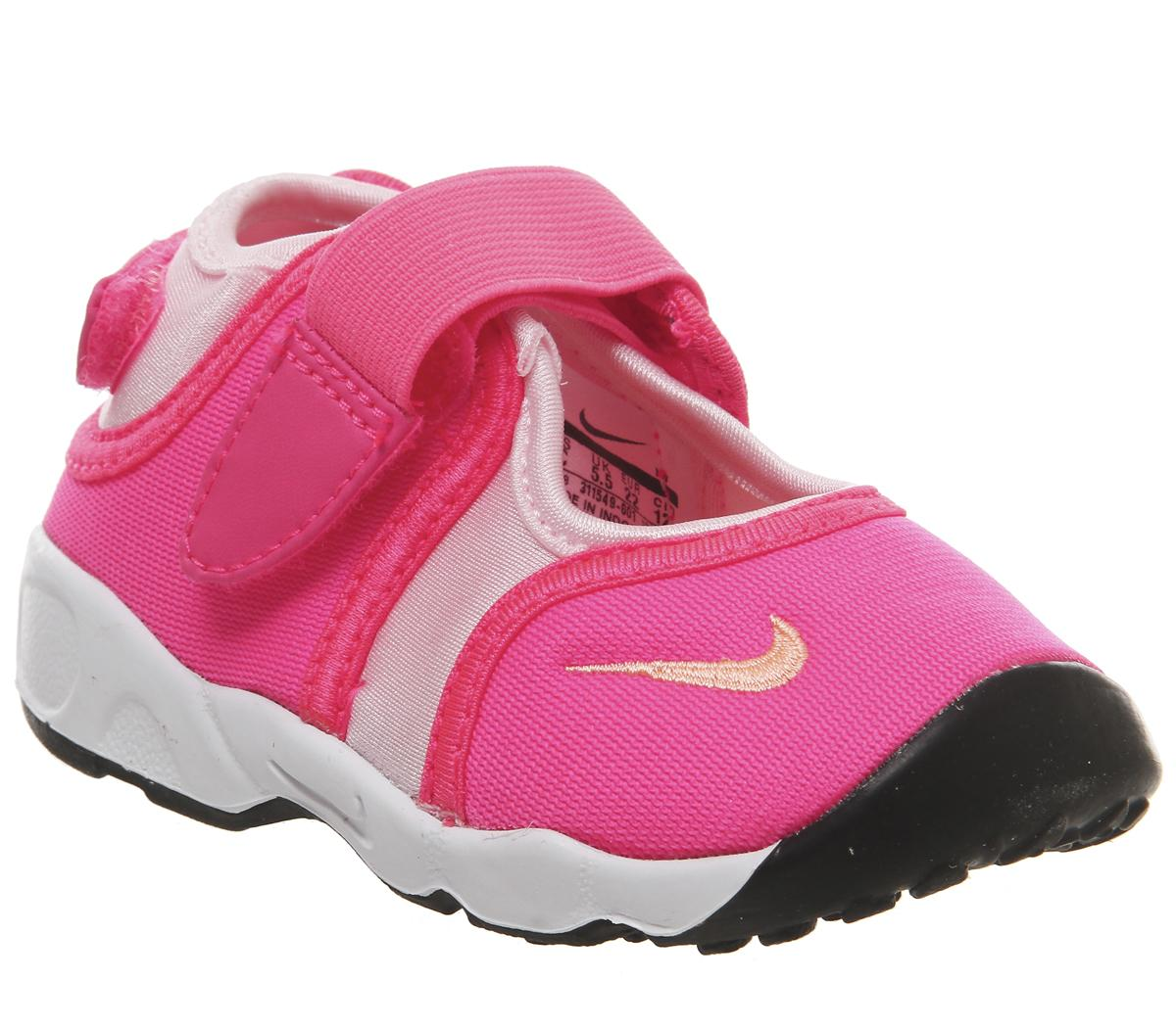 Buscar a tientas Misionero gancho  Nike Rift Infant Trainers Racer Pink Sunset Glow White - Unisex