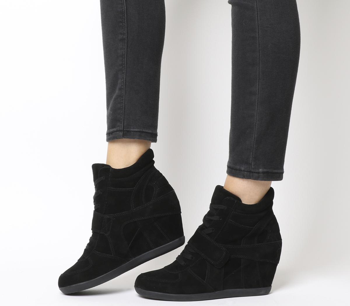 Ash Bowie Hi Top Wedge Sneaker Black
