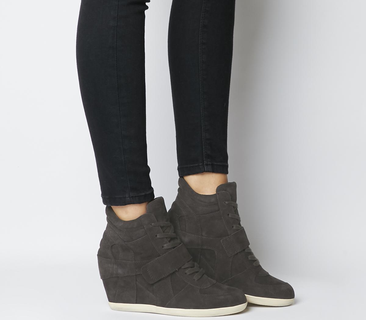Ash Bowie Hi Top Wedge Sneakers Grey