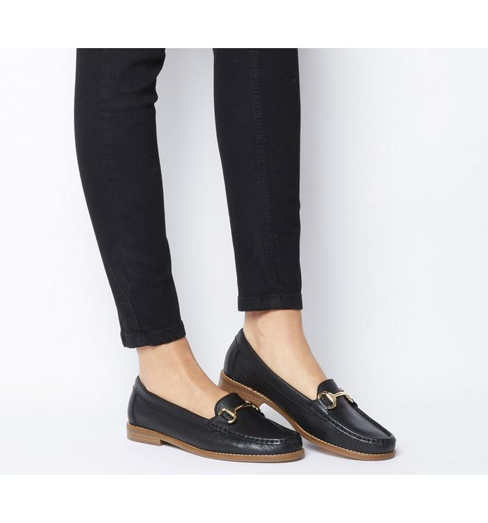 Office Office First Class Trim Loafer BLACK TUMBLED LEATHER