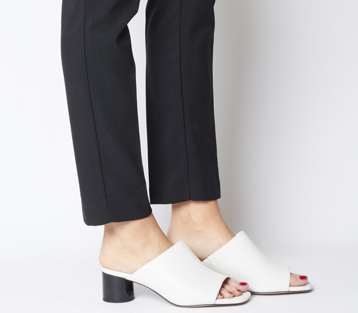 Office Mila Mule Heels White With