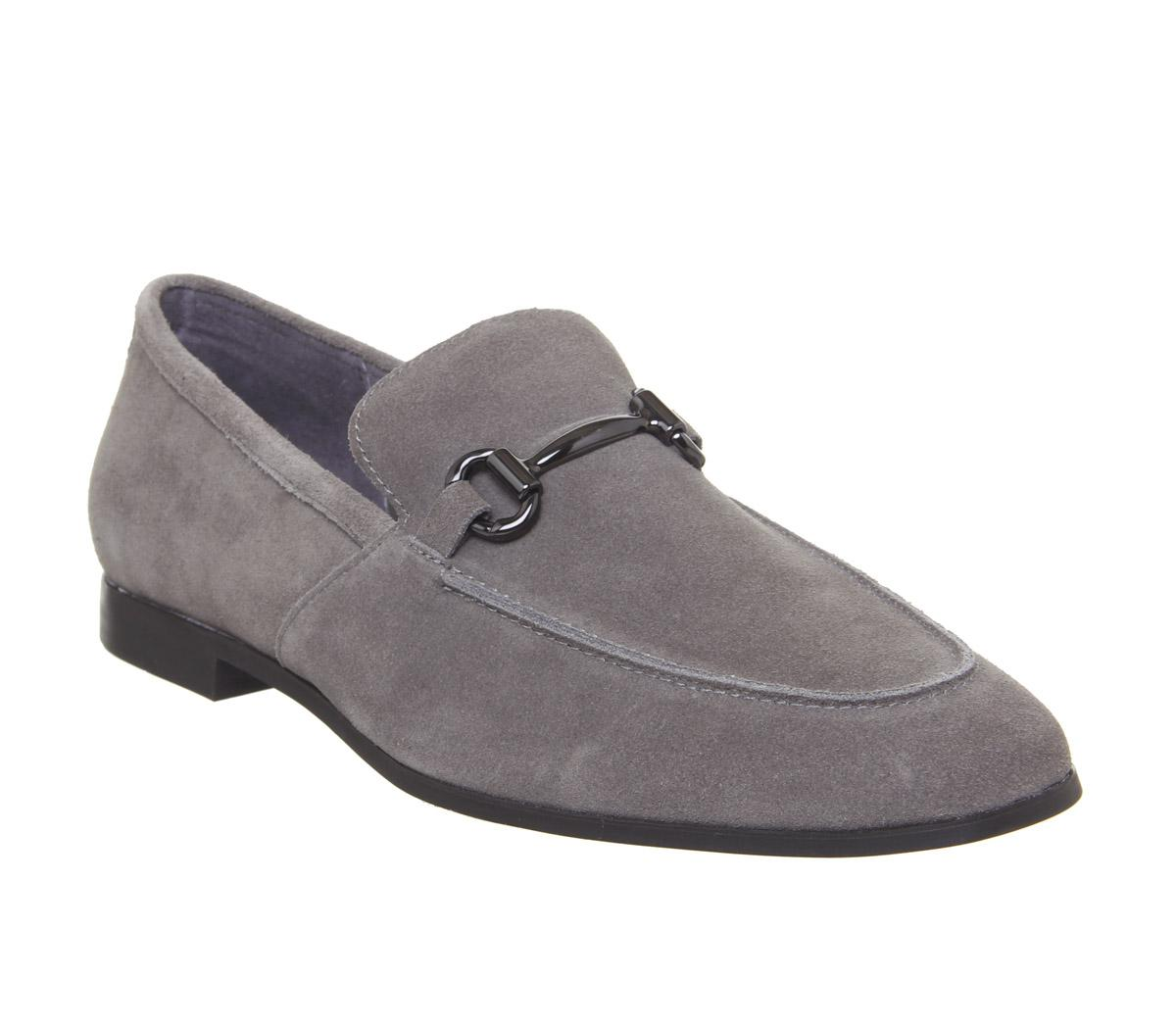 Office Lemming Snaffle Loafers Grey