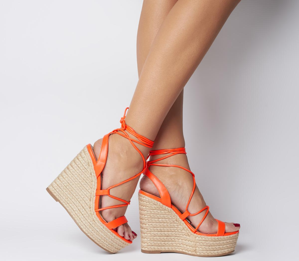 Office Hula Ghillie Chunky Wedges Fluro