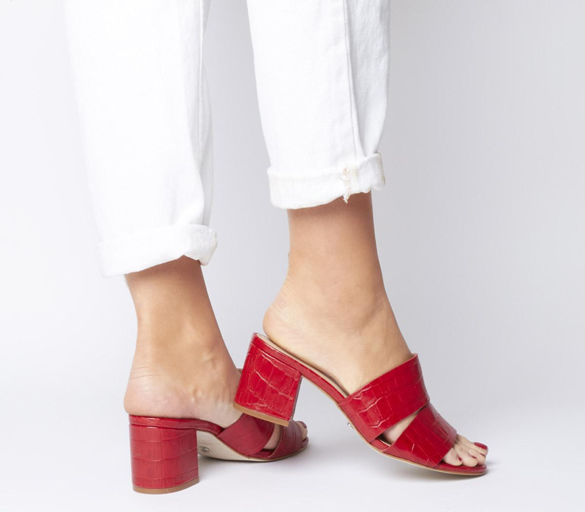 Office Malena Cut Out Mule Red Croc