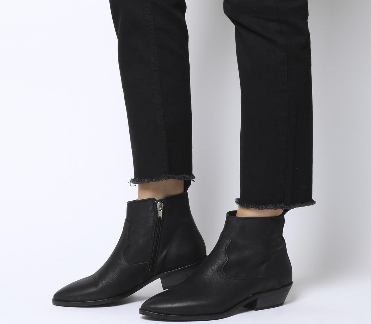 Office Addition Low Cut Western Boots