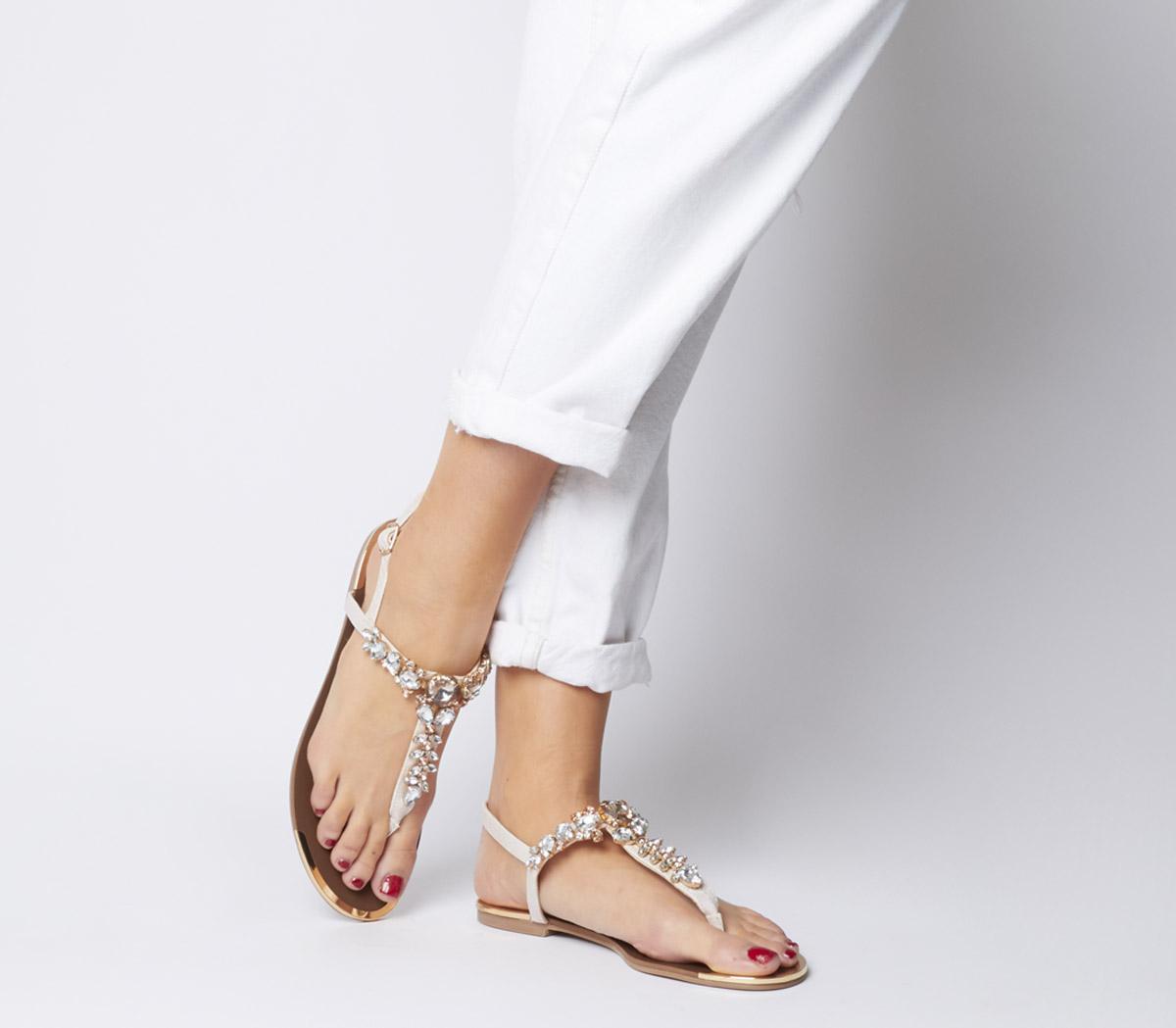 Scarlet Embellished Toe Post Sandals