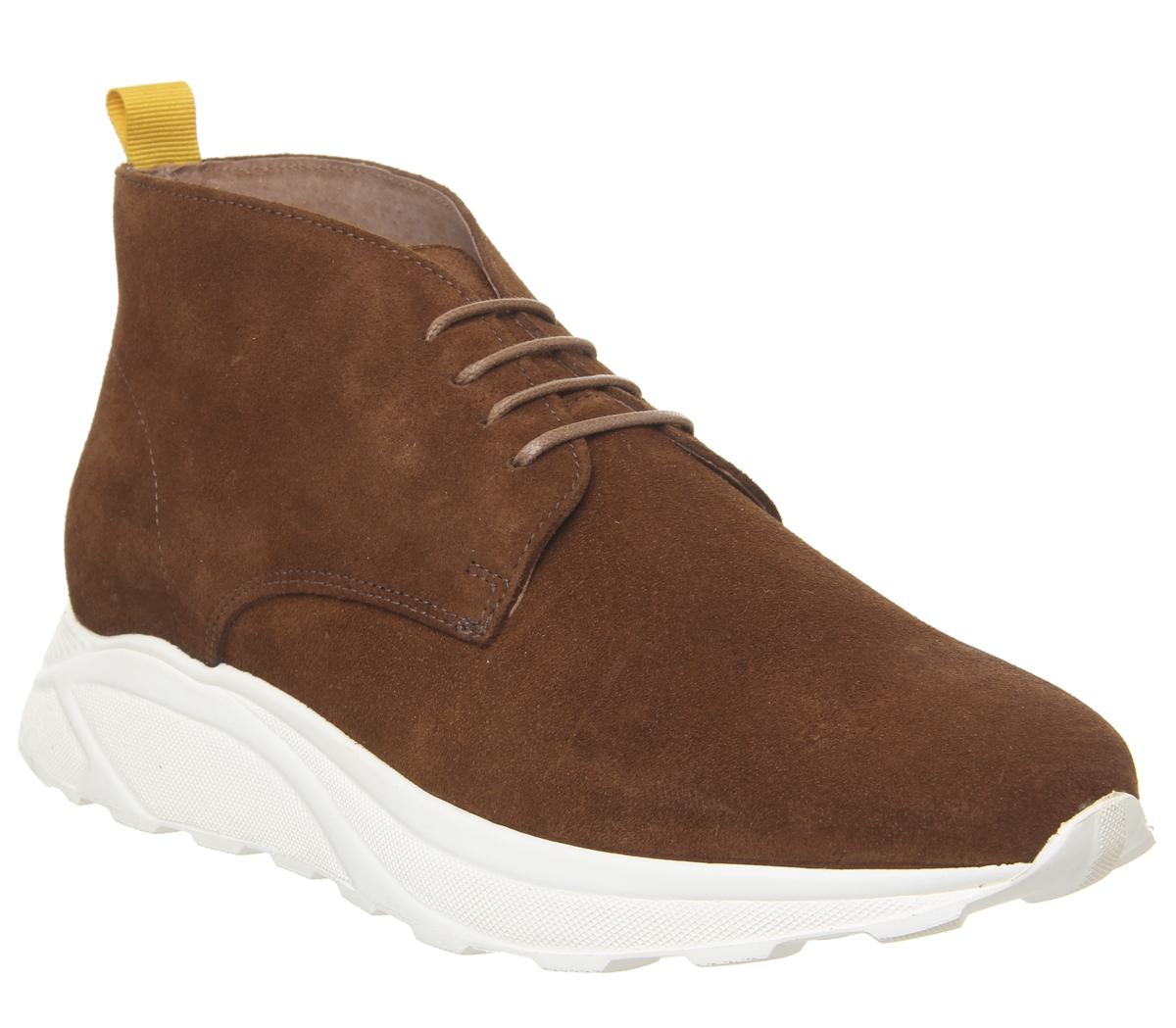 Mens Ask The Missus Inline Sneakers Hi Khaki Suede Casual Shoes