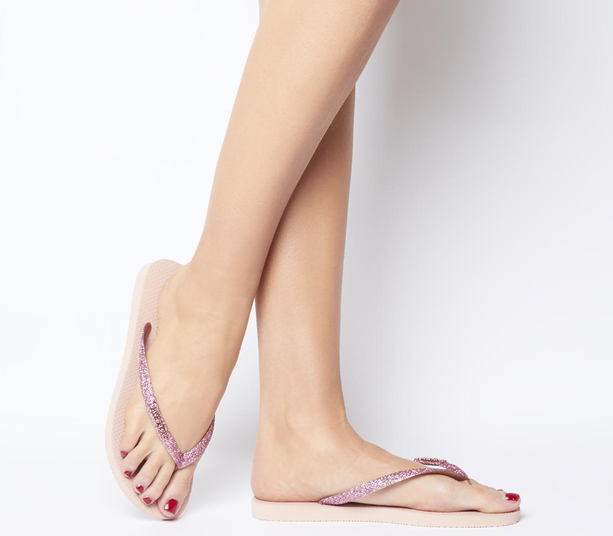 Slim Glitter Flip Flops
