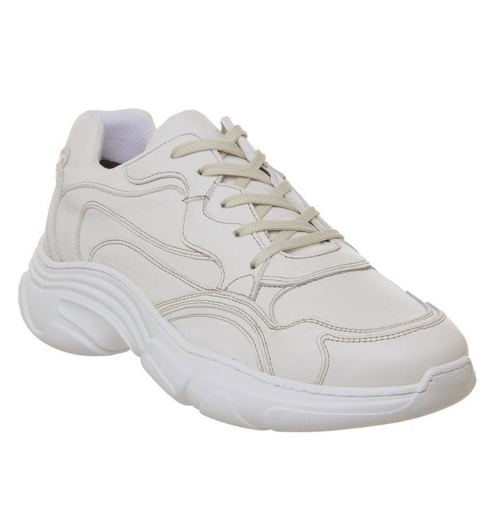 Ask the Missus Ask the Missus Leap Chunky Sneaker WHITE LEATHER