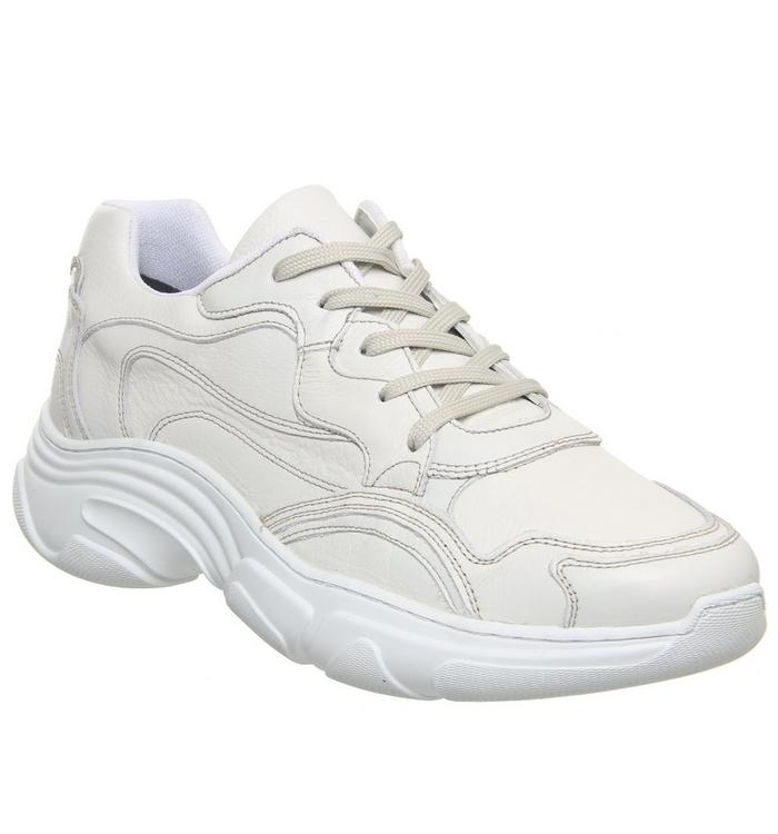 Ask the Missus Ask the Missus Leap Chunky Trainer WHITE LEATHER HOLOGRAPHIC