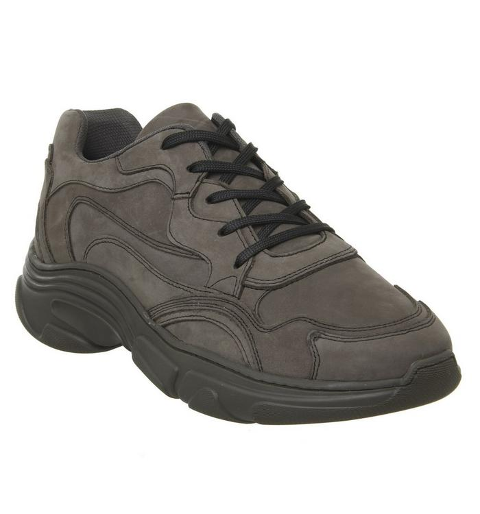 Ask the Missus Ask the Missus Leap Chunky Trainer GREY NUBUCK
