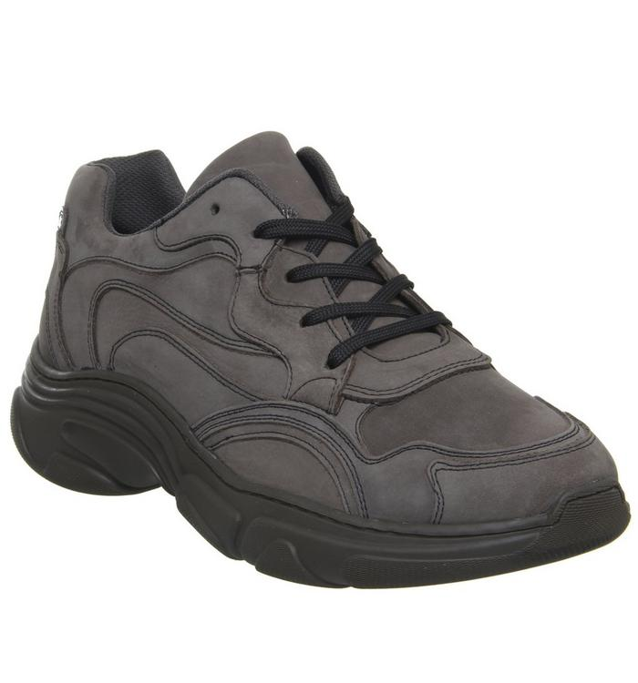 Ask the Missus Ask the Missus Leap Chunky Trainer GREY NUBUCK HOLOGRAPHIC