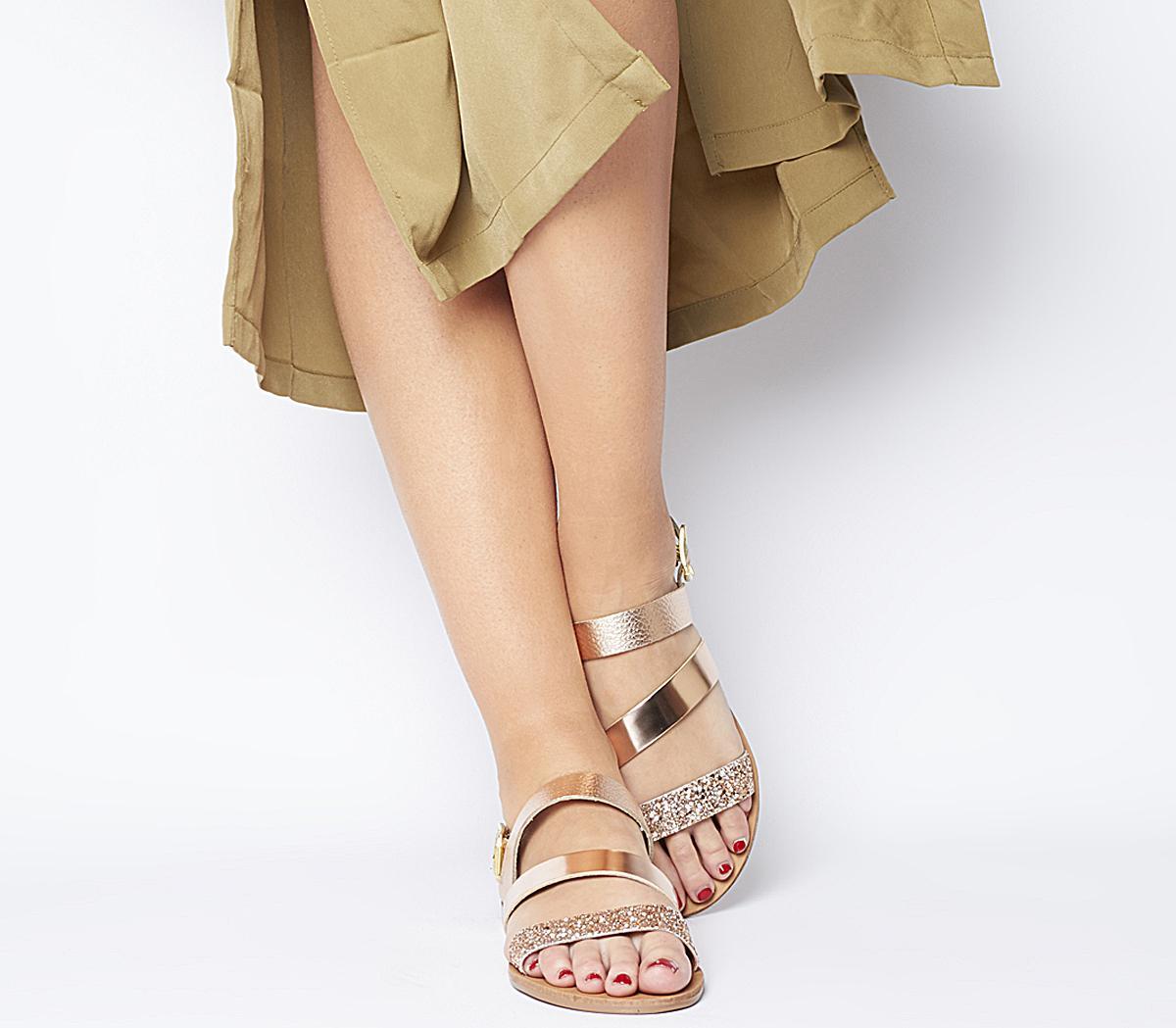 Sweet Heart Asymmetric Strap Sandals