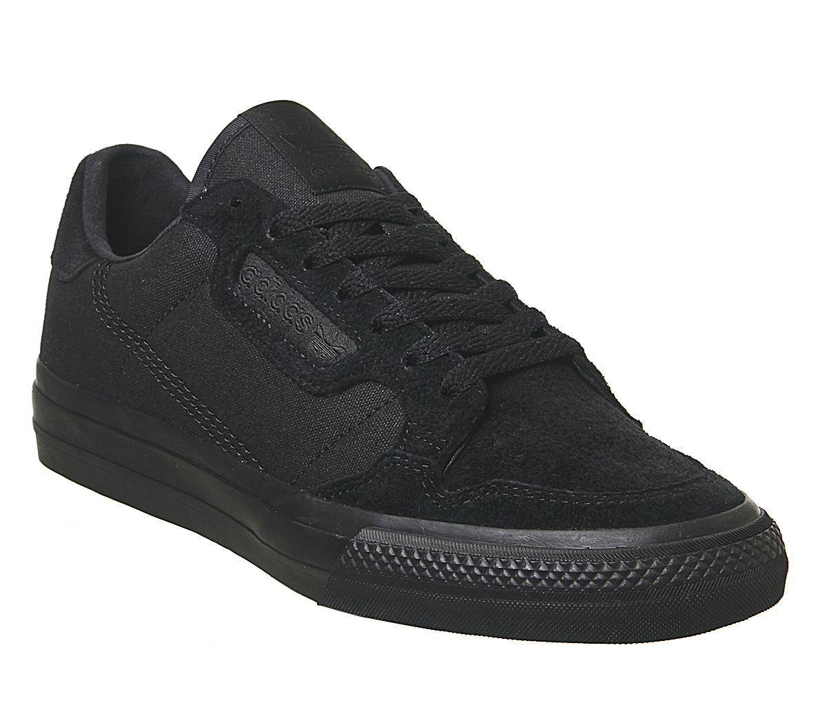 adidas Continental Vulc Trainers Black