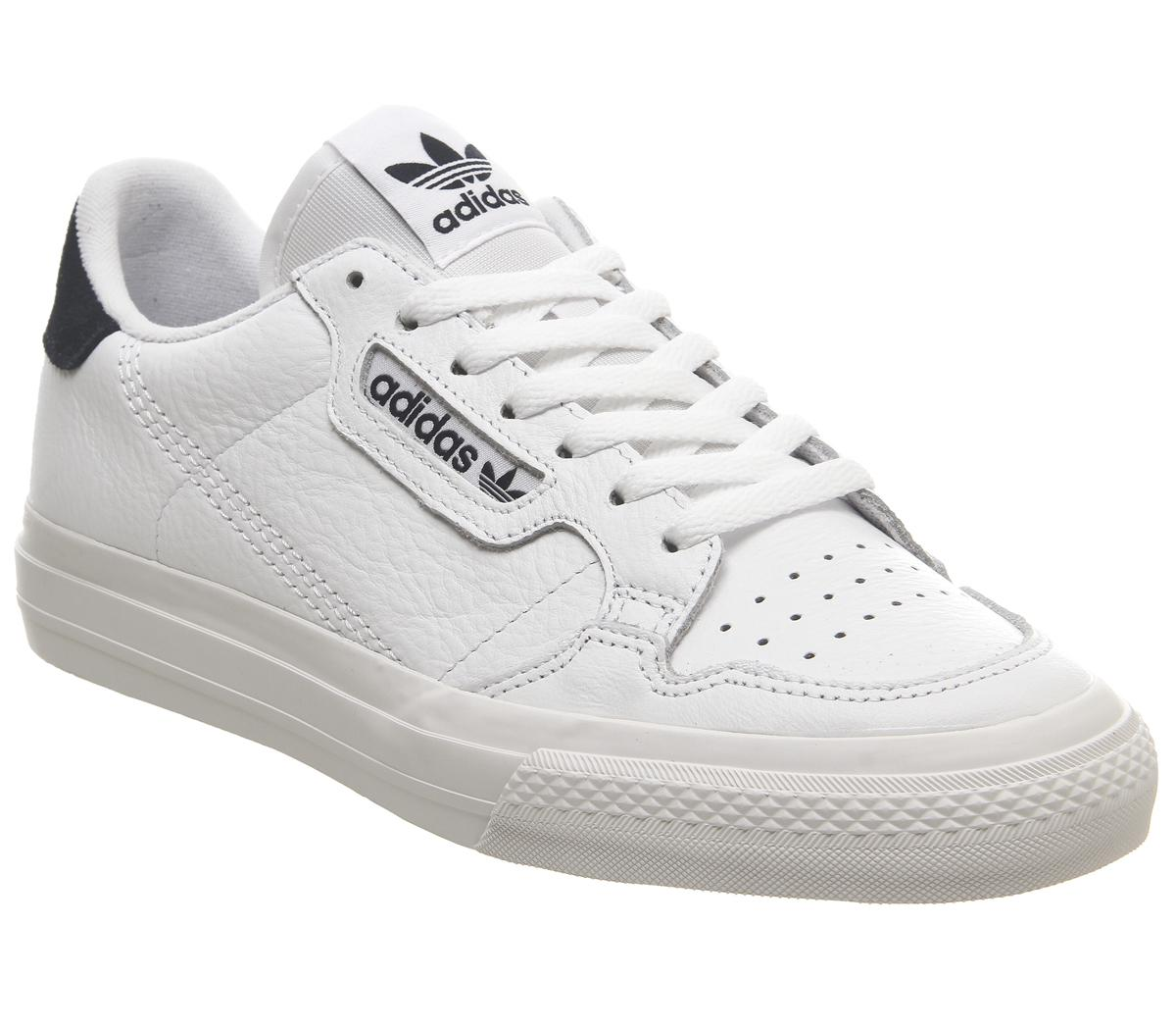 adidas Original continental 80 vulc sneakers in off white