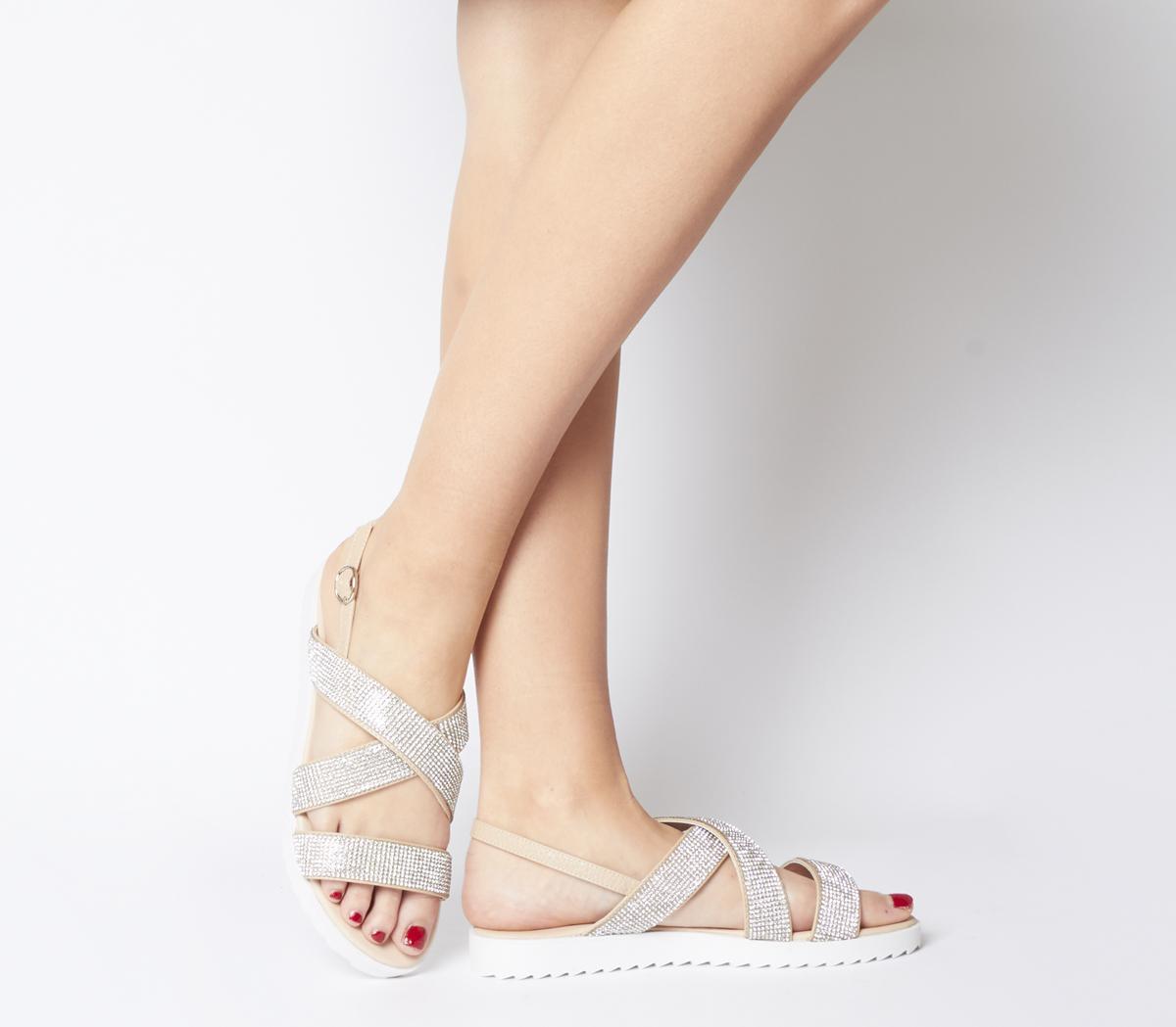 Shaker Embellished Strappy Sandals