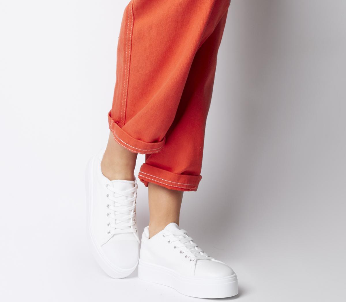 Feast Canvas Lace Up Trainers