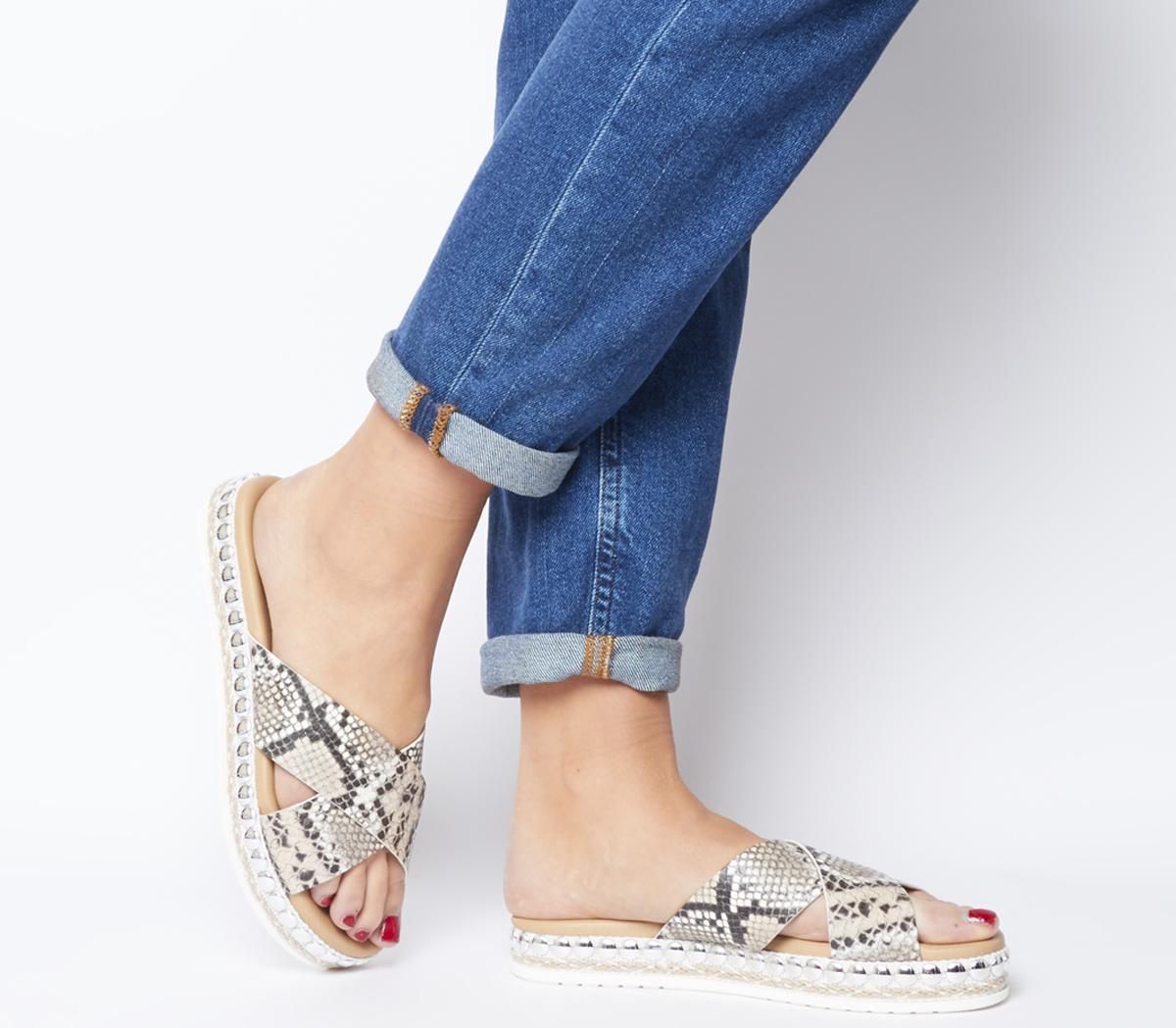 Sincere Studded Cross Strap Sandals