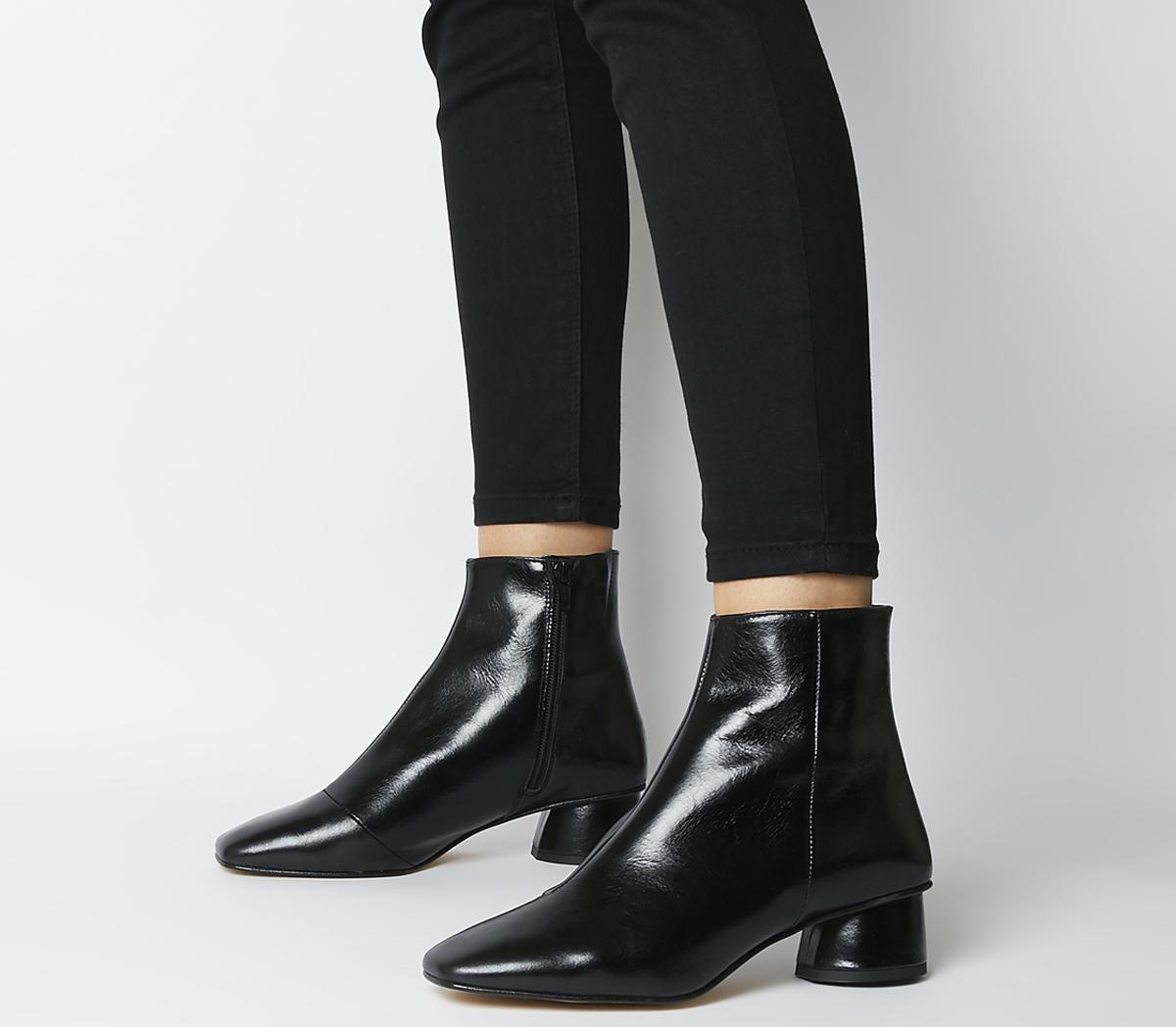 Almond- Low Block Heel Boots