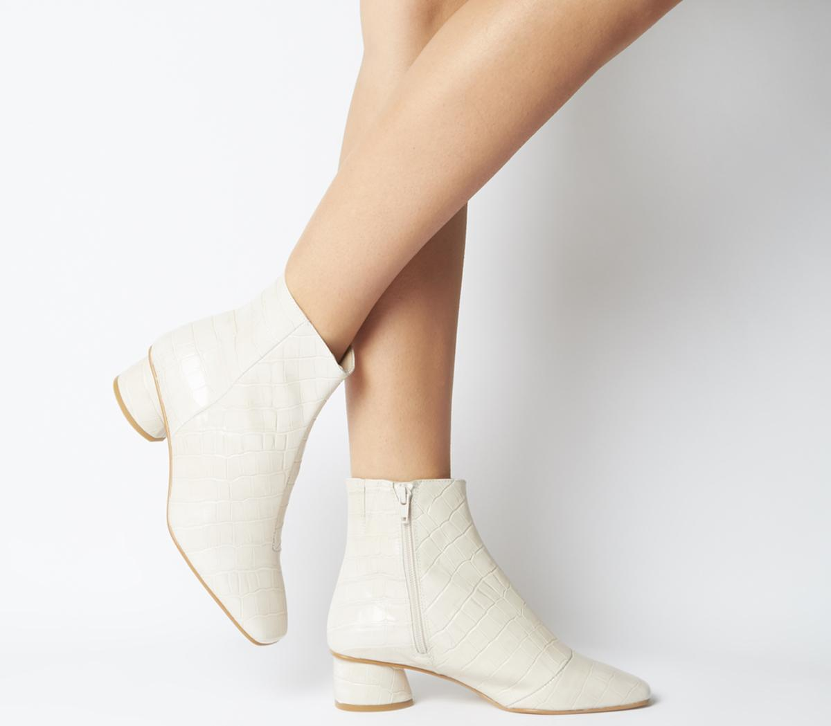 Almond  Low Block Heel Boots