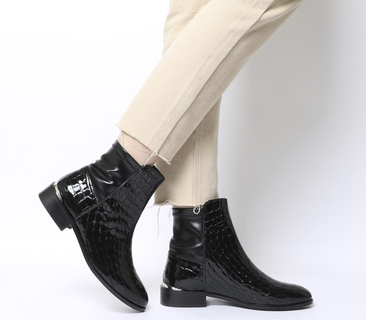 Ashby Stretch Panel Flat Boots