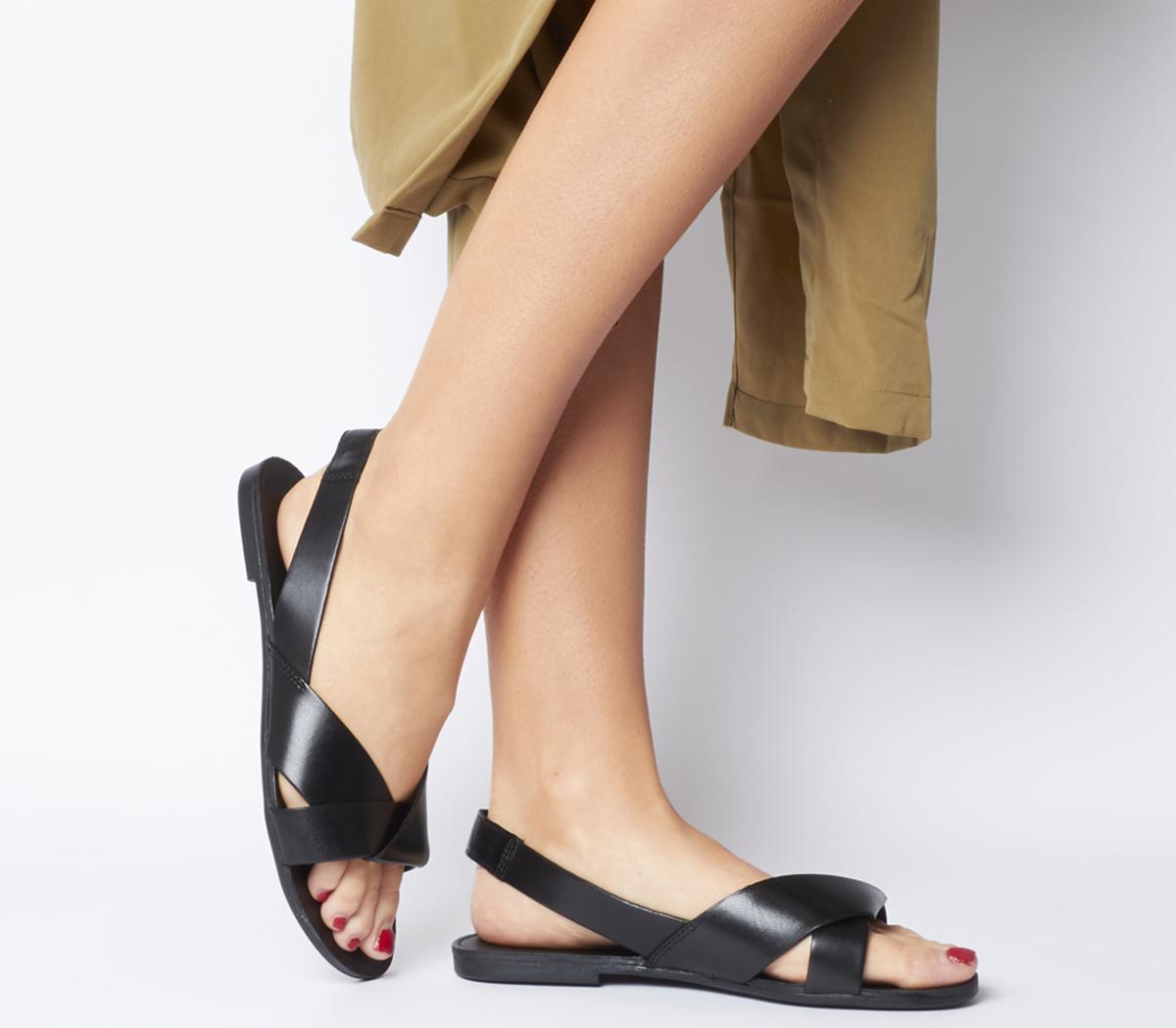 Tia Cross Slingback Sandals