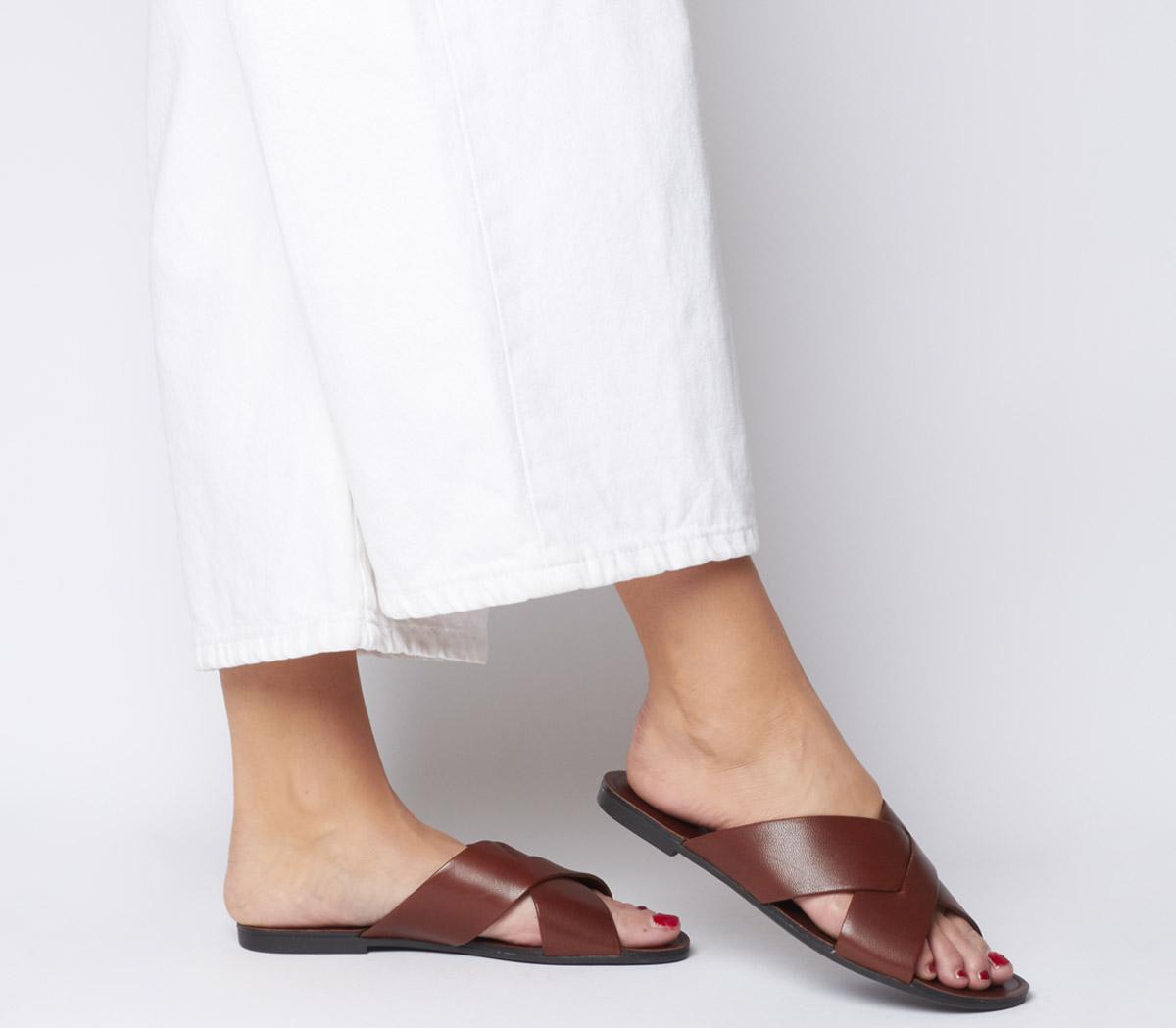 Tia Cross Strap Sandals