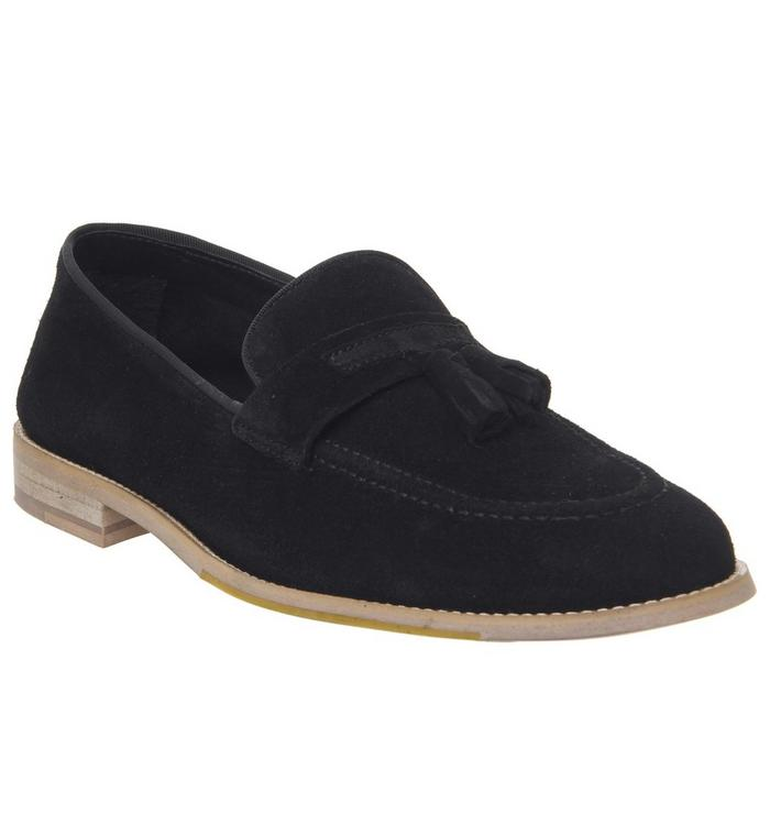 Ask the Missus Ask the Missus Lazier Tassel Loafer BLACK SUEDE