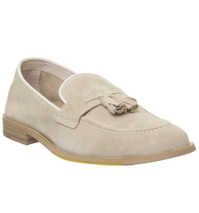 Ask the Missus Ask the Missus Lazier Tassel Loafer BEIGE SUEDE