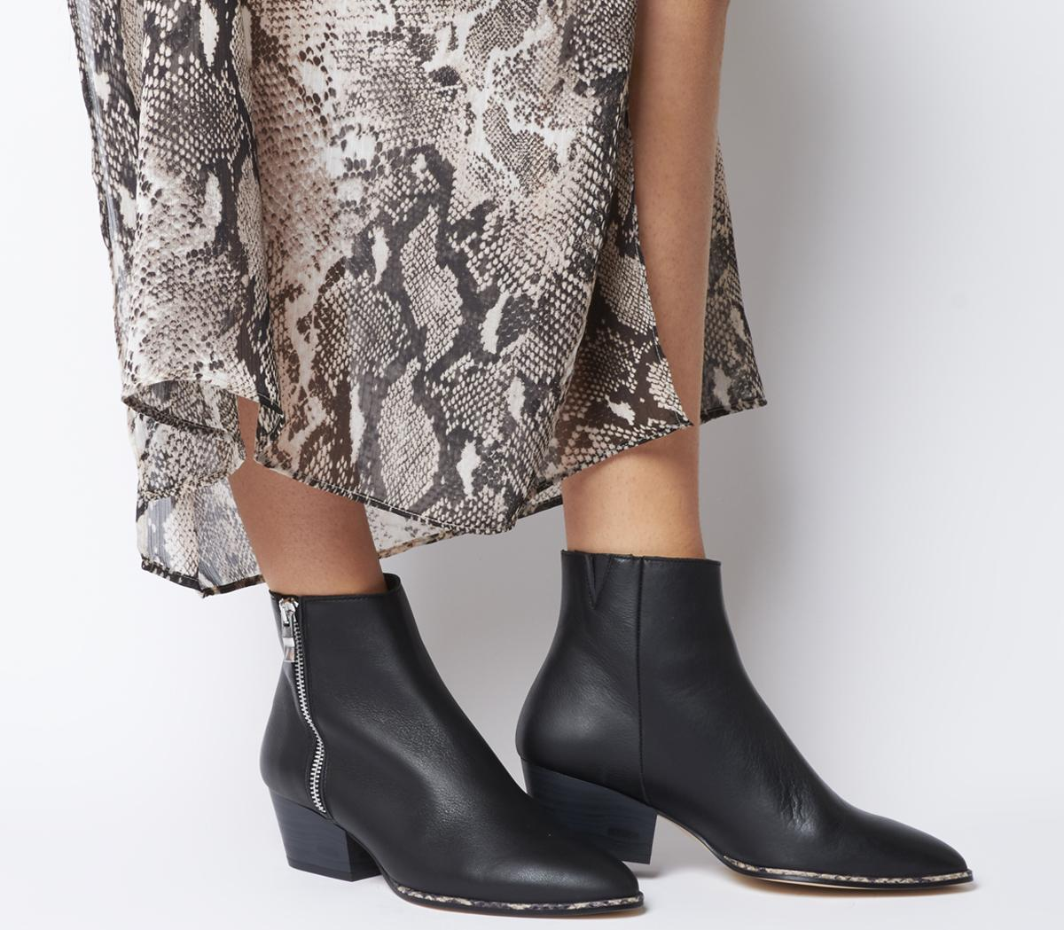 Altered Western Zip Boots