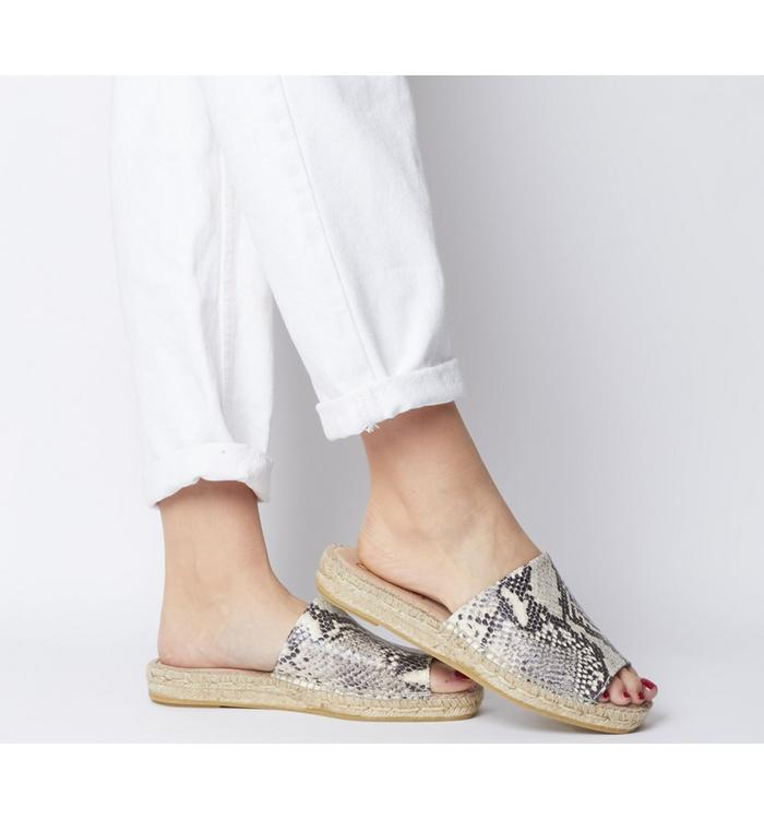 Gaimo for OFFICE Gaimo for OFFICE Gladis Square Toe Mule NATURAL SNAKE
