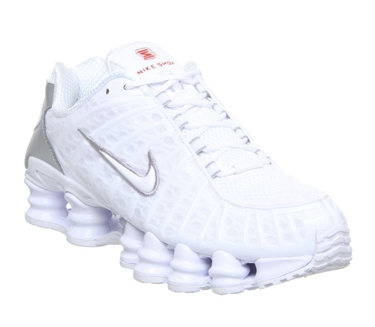 Alegre Fracción evitar  Nike Nike Shox Tl Trainers White White Metallic Silver Max Orange ...