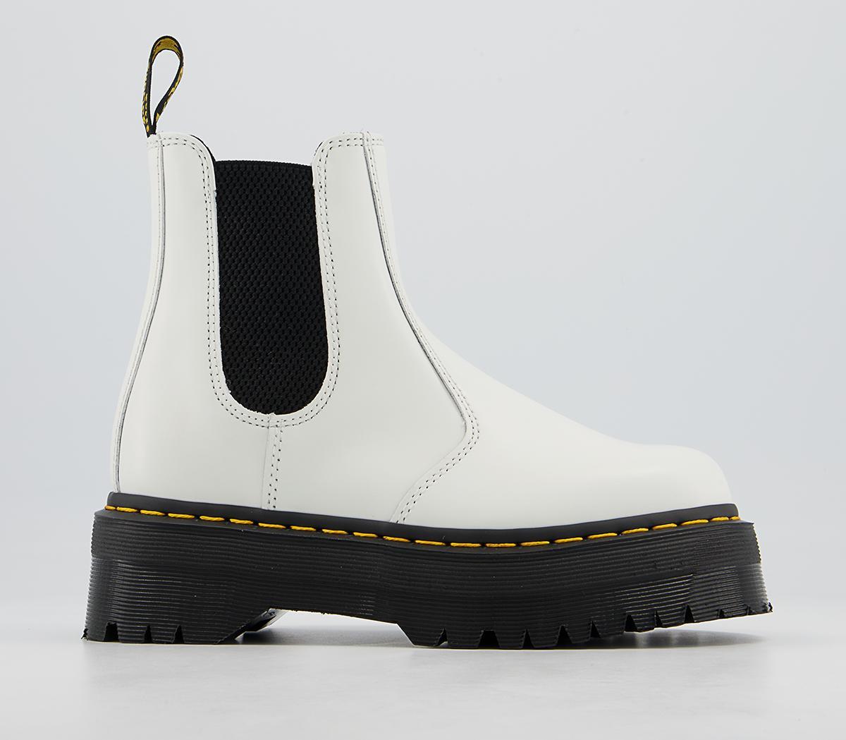 Dr. Martens 2976 Quad Chelsea Boots White - Ankle Boots