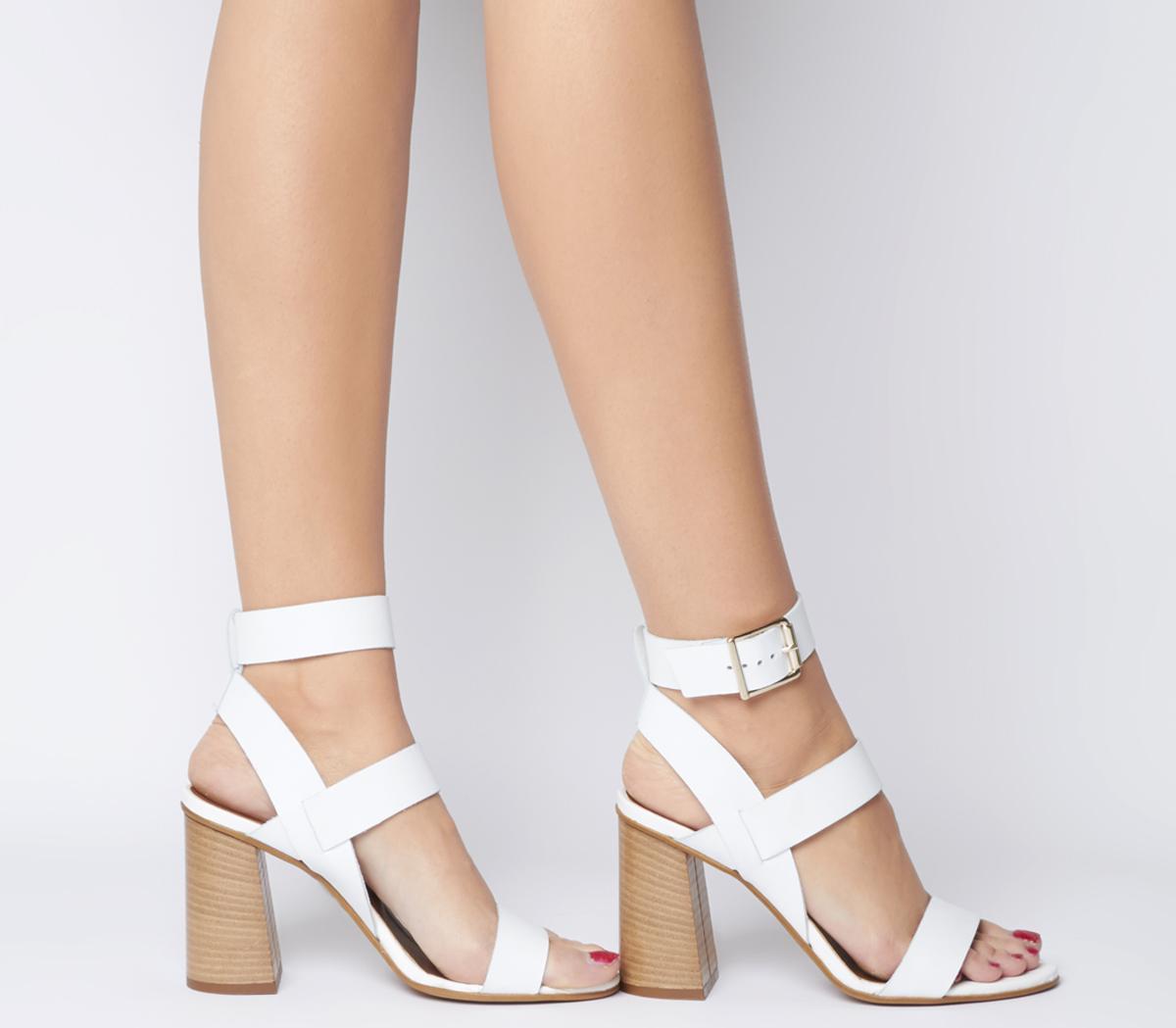 Hanny Triple Strap Block Heels