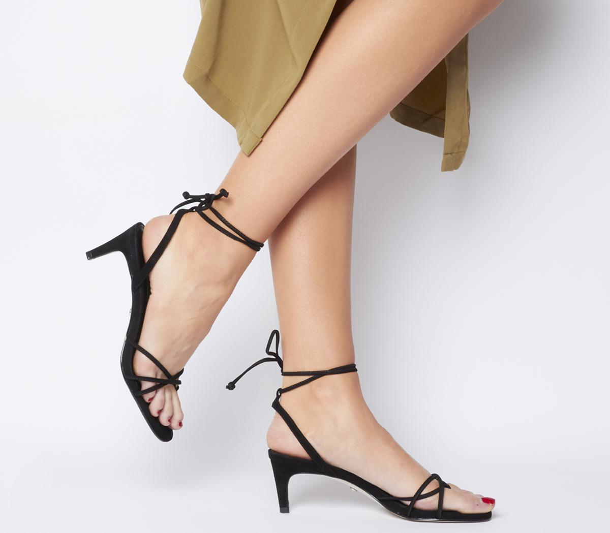 Office Milo Toe Loop Sandals Black