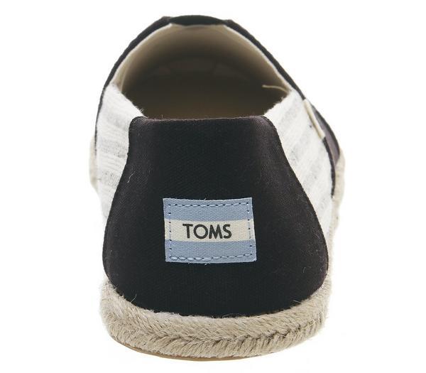 Toms Toms University Classic Espadrilles Black - Casual UXfLf51