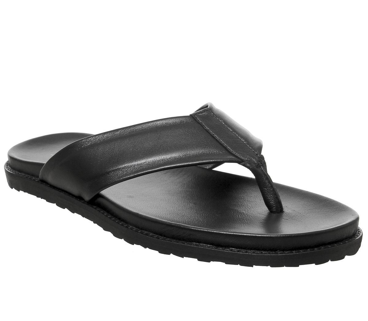 Office Levante Toe Thong Sandals Black