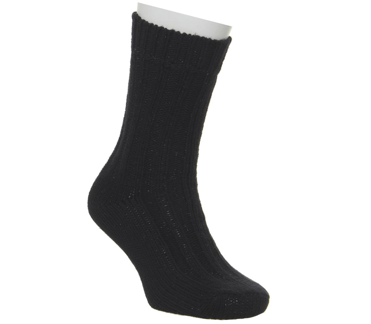 Bling Black Socks