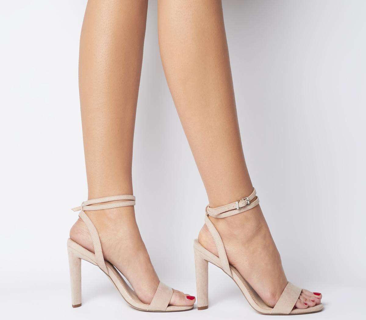 Part Block Sandals - Wide Fit Nude