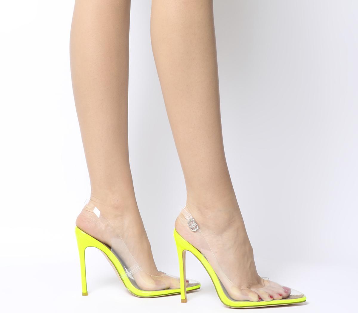 Seamless Transparent Strap Court Heels