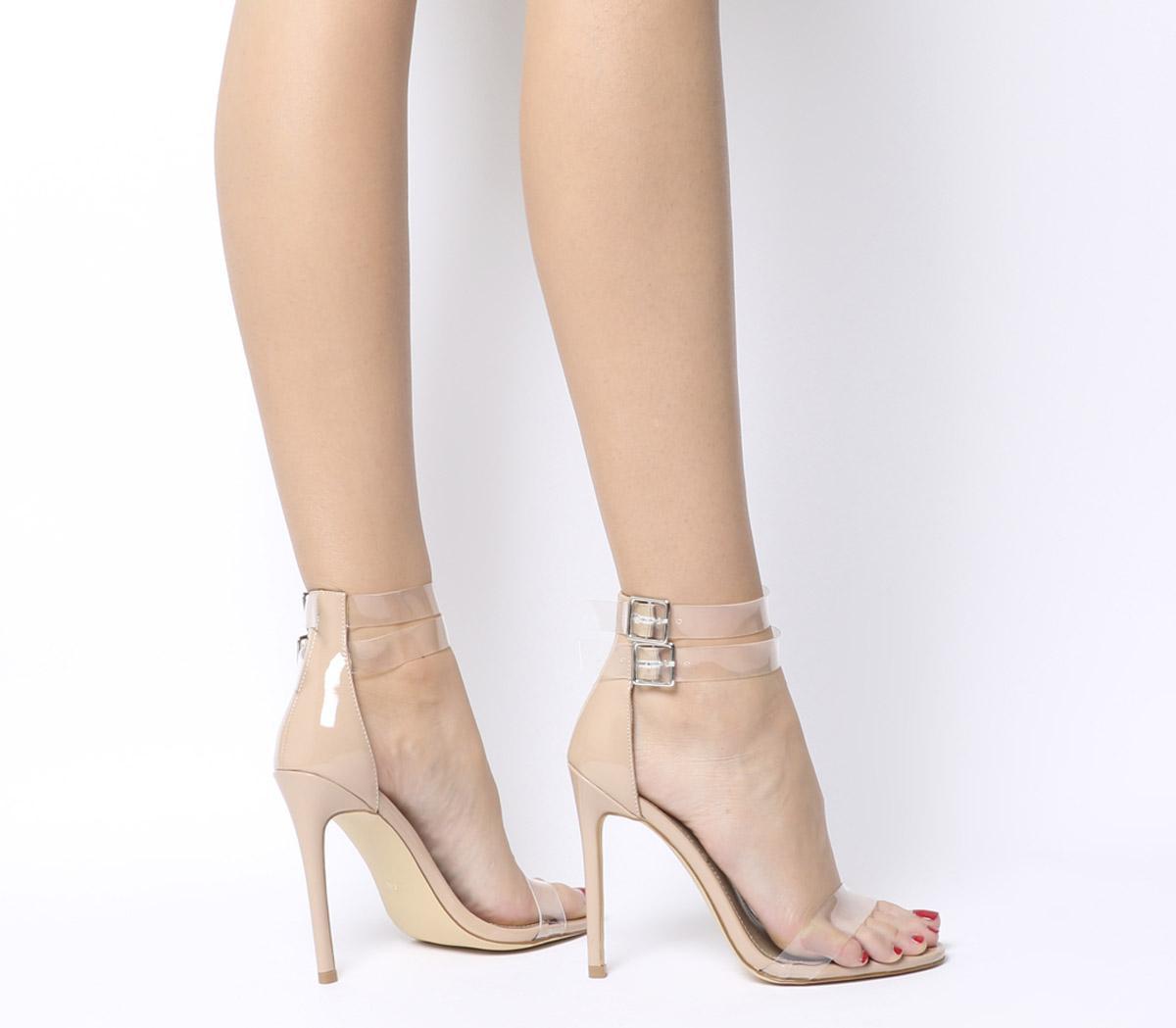 Winnie Transparent Cuff Heels by Ego