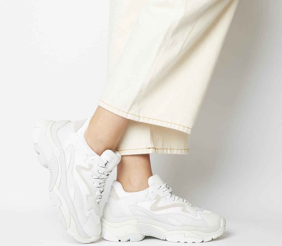 ash addict trainers white